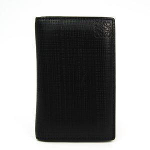 ロエベ(Loewe) リネン レザー カードケース ブラック 101.88.L56