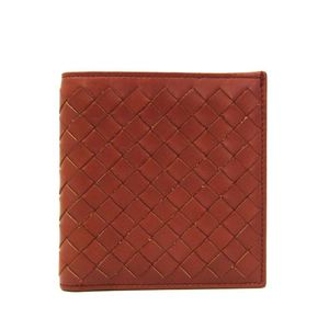 ボッテガ・ヴェネタ(Bottega Veneta) イントレチャート 200709 レザー 財布(二つ折り) ブラウン