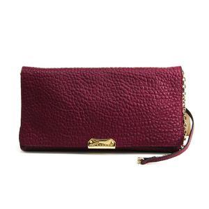 Burberry DARK PLUM MEDIUM MILDENHALL CLUTCH 3990383 Women's Leather Shoulder Bag Purple