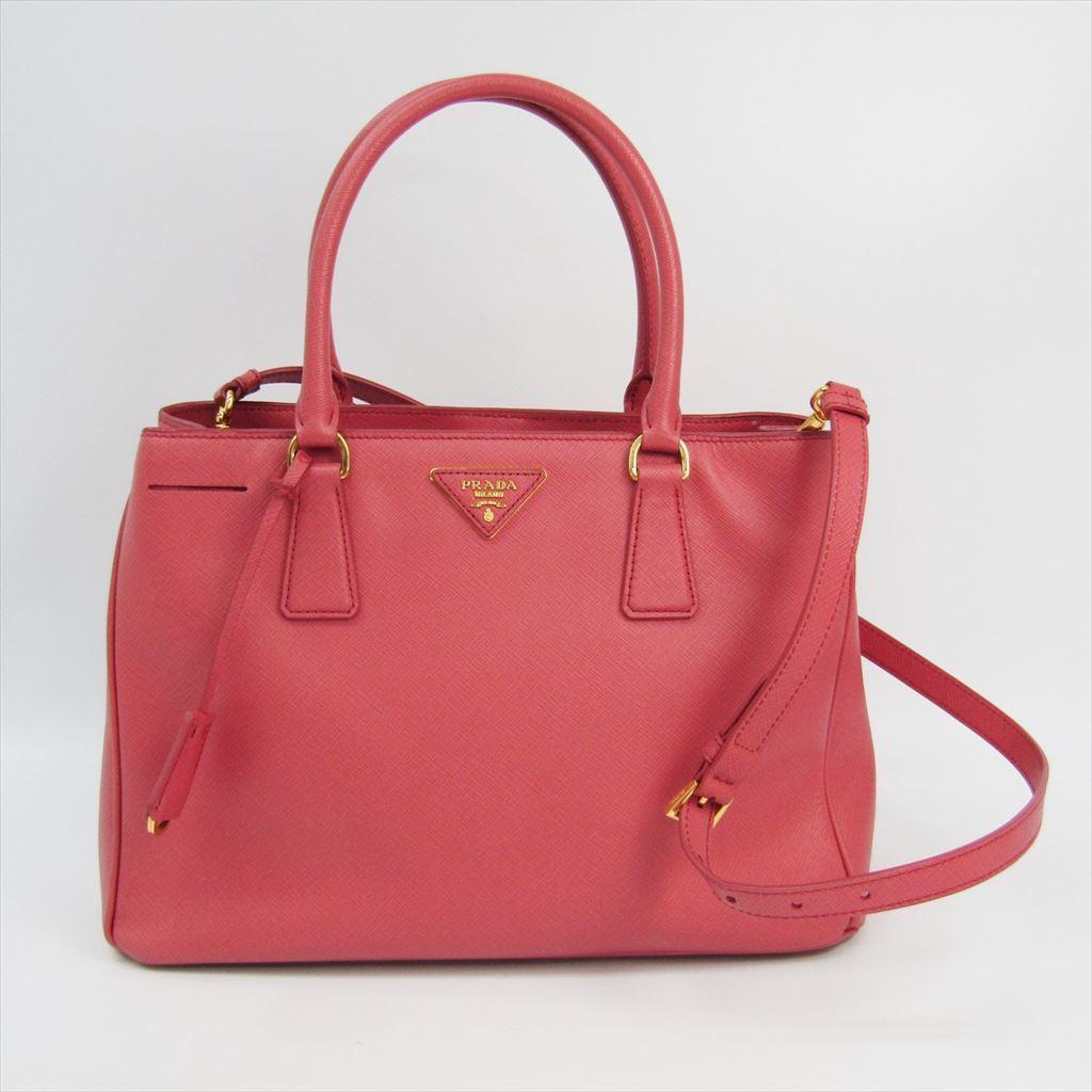 cc8b2809d9f02 Prada BN1874 Damen Saffiano Lux Handtasche Rosa BF322130