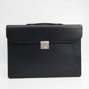 Valextra Men's Leather Briefcase Dark Navy