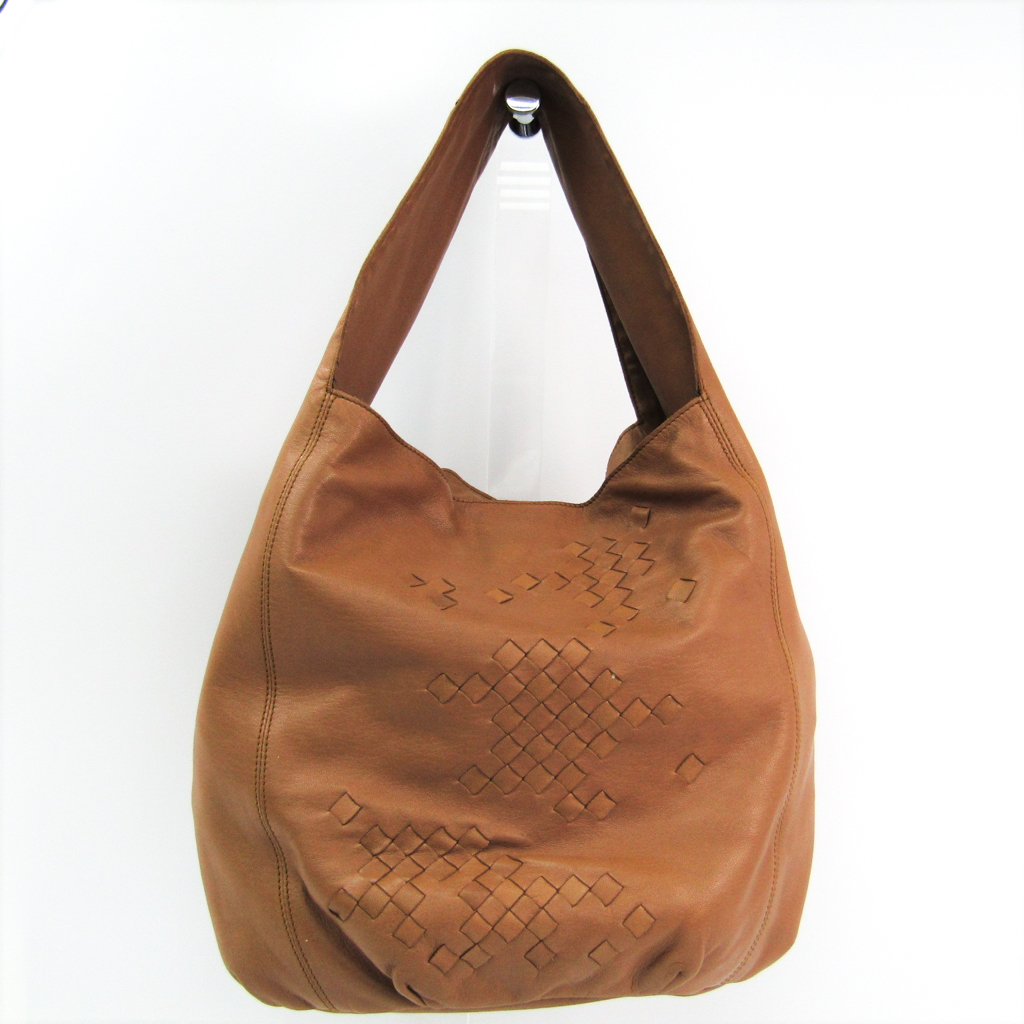 1f36aa60ed7a Bottega Veneta Intrecciato 120772 Women s Leather Shoulder Bag Camel  BF322314