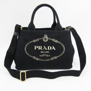 プラダ(Prada) カナパ 1BG439 レディース キャンバス トートバッグ Nero(ネロ)