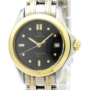 Omega Seamaster Quartz Stainless Steel,Yellow Gold (18K) Women's Dress Watch
