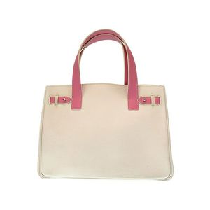 Hermes Women's Swift Leather Tote Bag Pink,White