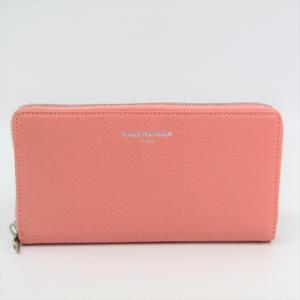 4fee846e0fc Balenciaga 419805 Women's Leather Long Wallet (bi-fold) Pink