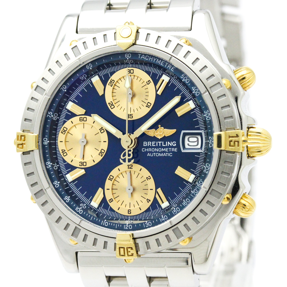 BREITLING Chronomat 18K Gold Steel Automatic Watch B13352