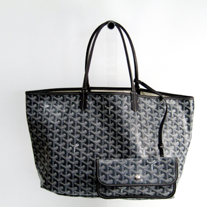 Goyard Saint Louis Saint Louis PM Women's Leather Canvas Tote Bag Gray