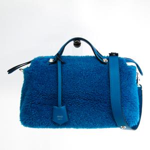 Fendi By The Way 8BL124 Women's Leather Handbag Blue