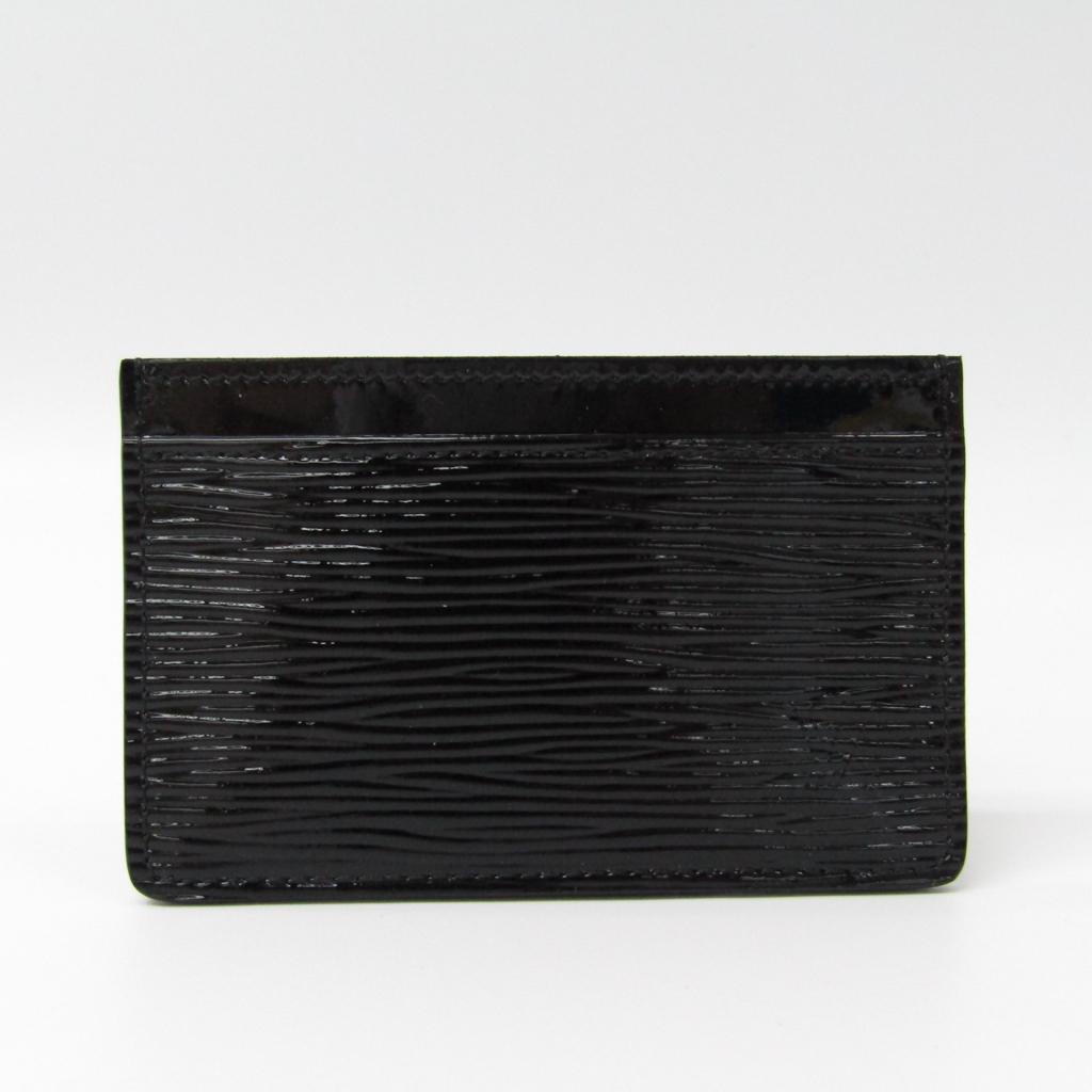 9c21b0a366139c Details about Louis Vuitton Epi Leather Card Case Noir Simple Card Case Epi  Electric BF322986
