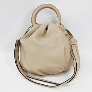 Loewe Bounce Small 332.87.L40 Women's Leather Handbag Beige