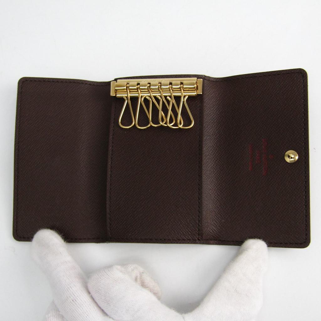 72236e1b17f7 Louis Vuitton Damier 6 Key Holder Damier Canvas Key Case Ebene ...
