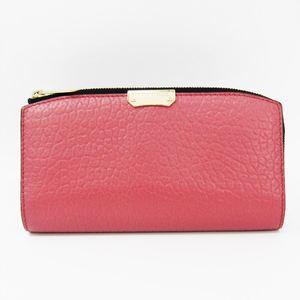 バーバリー(Burberry) 4014752 レディース レザー 長財布(二つ折り) ローズピンク