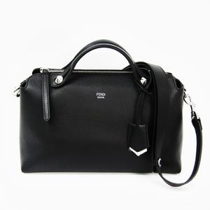 Fendi By The Way 8BL124 Women's Leather Handbag Black