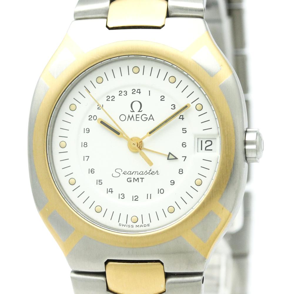 Omega Seamaster Quartz Stainless Steel,Yellow Gold (18K) Men's Dress Watch 396.1122