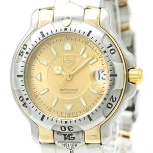 【TAG HEUER 】タグホイヤー 6000 プロフェッショナル K18 ゴールド ステンレススチール クォーツ メンズ 時計 WH1253