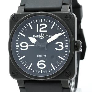 【BELL&ROSS】ベル&ロス ゴールデンヘリテージ ステンススチール ラバー 自動巻き メンズ 時計 BR03-92