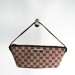 Gucci GG Canvas Pouch 07198 2123 Women's GG Canvas Pouch Brown,Pink