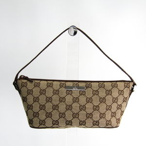 Gucci GG Canvas Accessory Pouch 07198 Women's GG Canvas Handbag Brown,GG Beige
