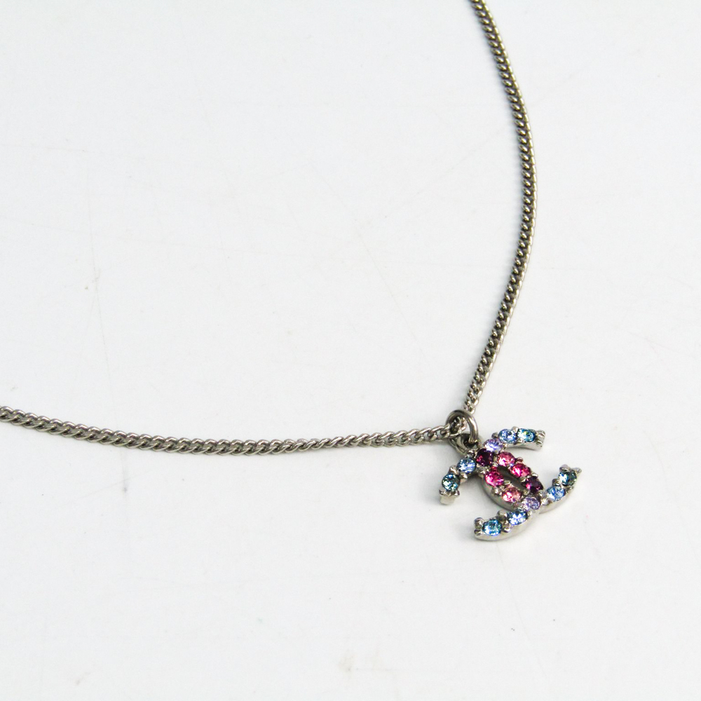 Chanel Metal Women s Casual Pendant Necklace (Silver) 50fd9a86a0