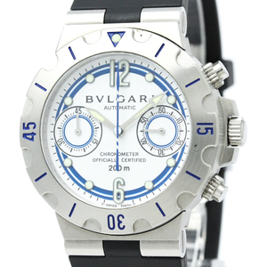 Bvlgari Diagono Automatic Stainless Steel Men's Sports Watch SC38NSW