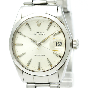 ROLEX Oyster Date Precision 6466 Hand-Winding Mid Size Watch