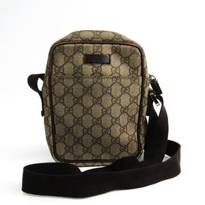 グッチ(Gucci) GGプラス GGプラス 122754 レディース PVC レザー ショルダーバッグ ベージュ,ブラウン