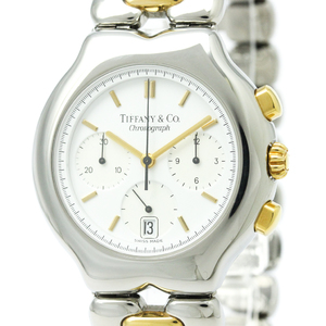 ティファニー(Tiffany) ティソロ クォーツ ステンレススチール(SS),K18イエローゴールド(K18YG) メンズ ドレスウォッチ M0322