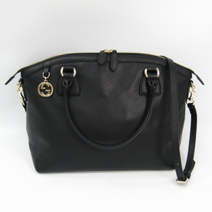 Gucci 449651 Leather Handbag Black