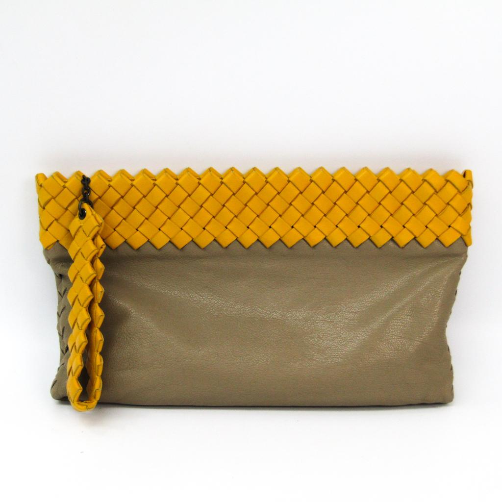 efbbbba100 Bottega Veneta Intrecciato Women s Leather Clutch Bag Beige