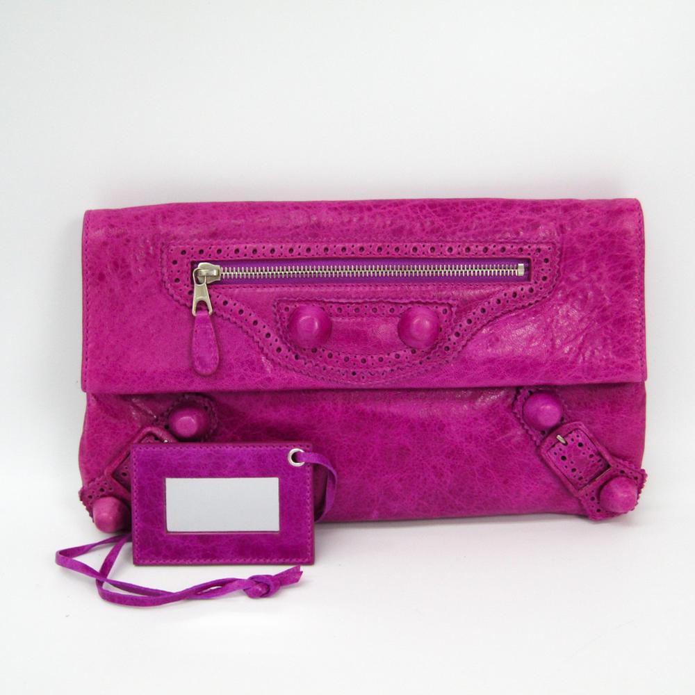 da646b7185 Balenciaga Giant Envelope Women s Leather Clutch Bag Pink