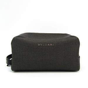 ブルガリ(Bvlgari) ウィークエンド 33400 レディース PVC クラッチバッグ ダークグレー