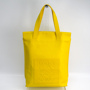 Loewe Shopper Leather Tote Bag Yellow
