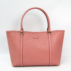 Gucci MicroGuccissima 449647 Women's Leather Tote Bag Pink
