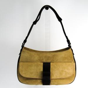 Loewe Women's Leather Shoulder Bag Beige,Brown