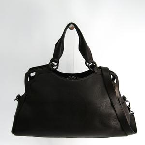 d67ae2a70c72 Cartier Marcello Women s Leather Handbag Dark Brown
