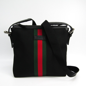 グッチ(Gucci) 387111 ナイロン,ウェビング ショルダーバッグ ブラック