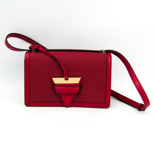 Loewe Barcelona 302.82AM15 Women's Leather Shoulder Bag Red