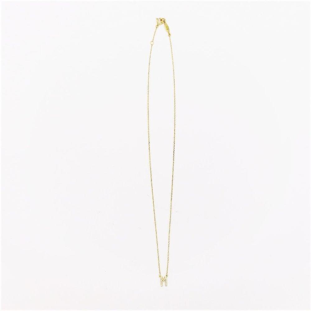 アーカー(AHKAH) イニシャル K18イエローゴールド(K18YG) ダイヤモンド レディース ネックレス カラット/0.06 (イエローゴールド(YG)) 『M』