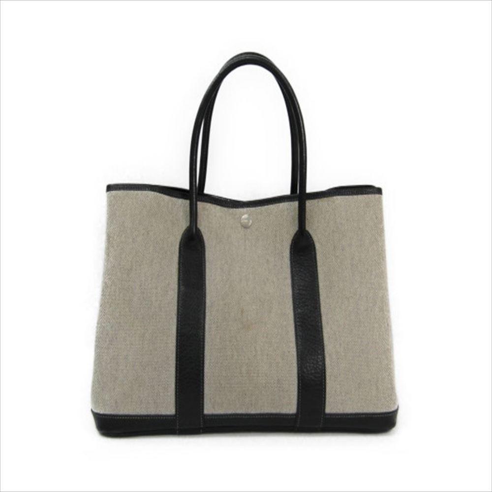 d3dcdf5713e Hermes Garden Garden Party Women's Toile H,Leather Tote Bag Gray