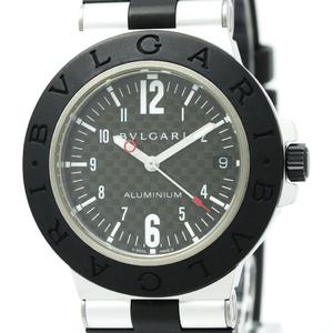 BVLGARI Alminium Carbon Dial Rubber Automatic Mens Watch AL38TA