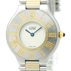 Cartier Must 21 Quartz Gold Plated,Stainless Steel Dress Watch