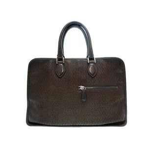 Berluti Men's Leather Briefcase Brown
