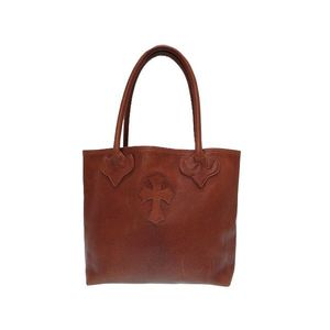 Chrome Hearts Men's Leather Tote Bag Brown