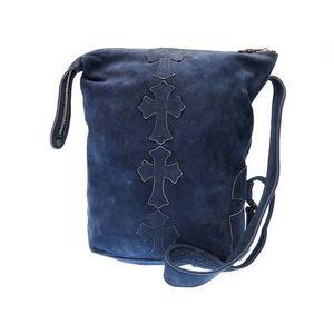 Chrome Hearts Men's Leather Shoulder Bag Navy