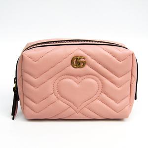 グッチ(Gucci) GGマーモント 476165 レディース レザー ポーチ ピンク