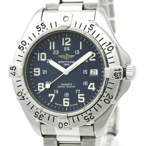 【BREITLING】ブライトリング コルト ステンレススチール クォーツ メンズ 時計 A57035