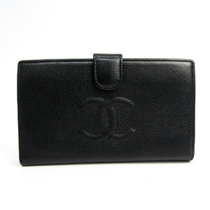 シャネル(Chanel) A13498 レザー 長財布(二つ折り) ブラック