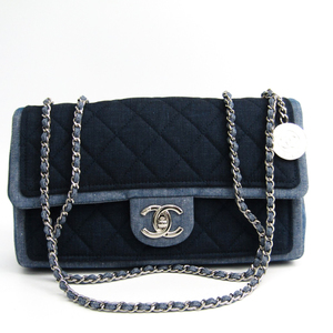 Chanel Matelasse A92216 Women's Denim Shoulder Bag Navy,Blue