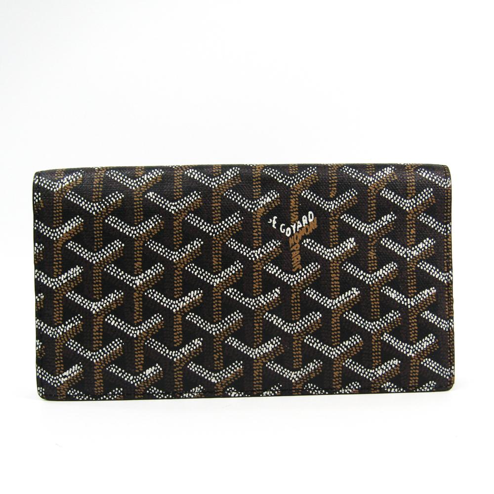 ゴヤール(Goyard) リシュリュー レザー,キャンバス 長財布(二つ折り) ブラック,ブラウン,ホワイト